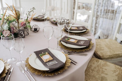сервировка стола на свадебном банкет