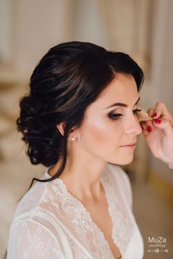 свадебный макияж и прическа, сборы