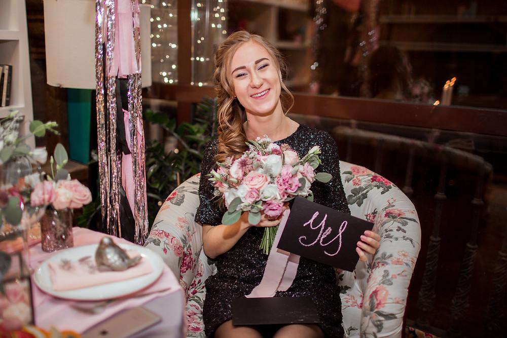 """она сказала """"Да!"""" - красивый финал романтического предложения руки и сердца, организованного свадебным агентством MuZa-wedding в Киеве"""