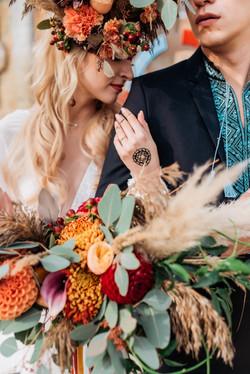 невеста, жених, букет, украина, бохо
