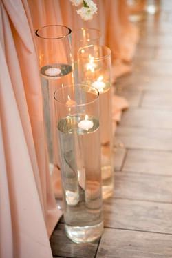 свечи на свадьбе, идеи оформления