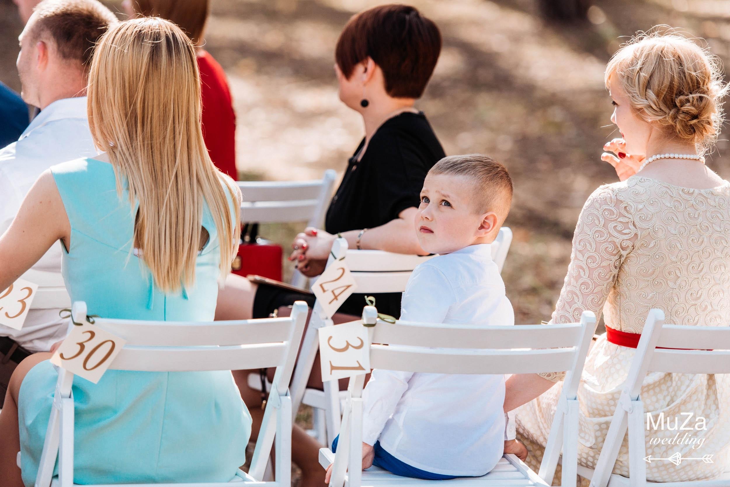 маленькие гости на лесной свадьбе