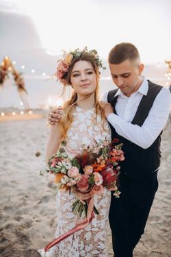 вечерняя свадебная церемония бохо