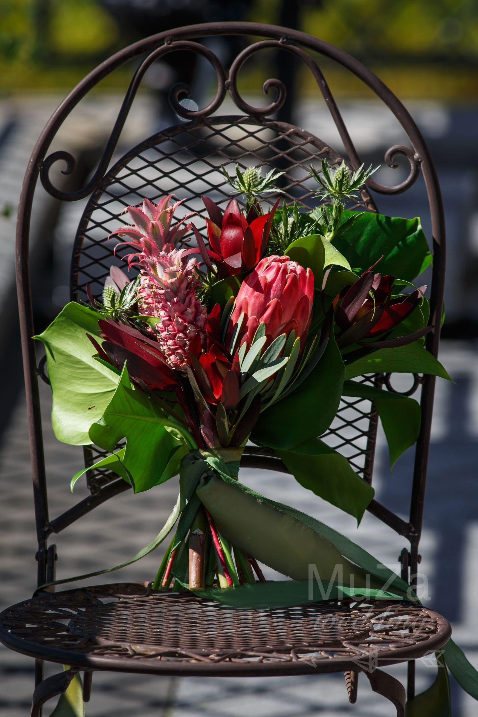 свадебный букет тропический протея
