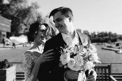 wedding first-look photos