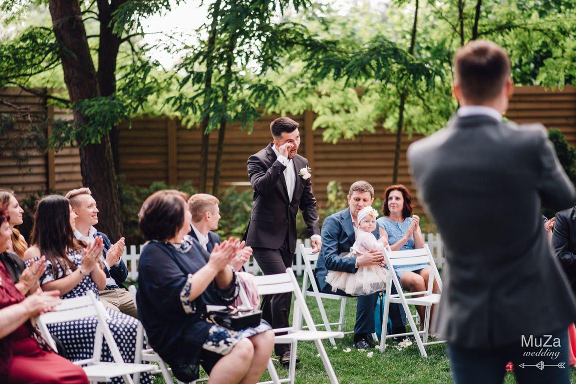 эмоции жениха на свадьбе