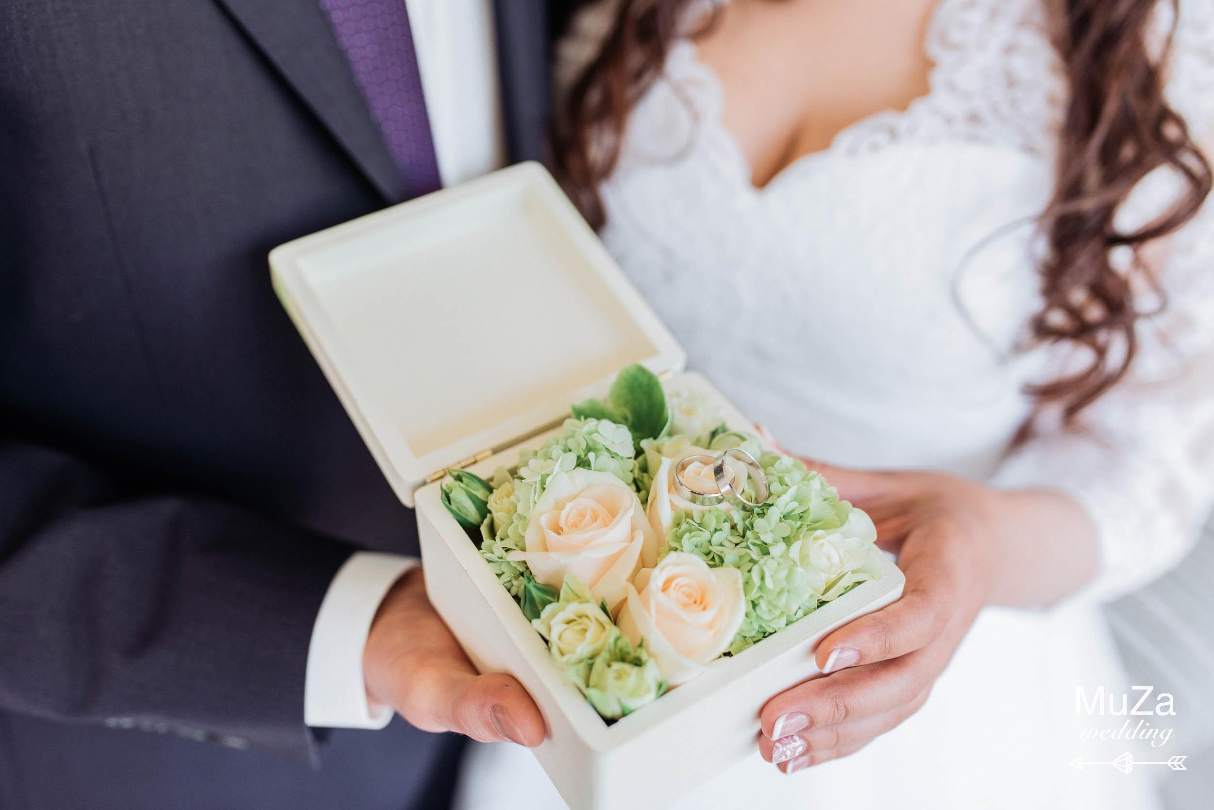 коробочка для колец на свадьбе