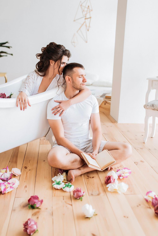 Свадебное утро: Валерия и Алексей решили провести утро свадебного дня вместе. Совместная фотосессия утра свадьбы.