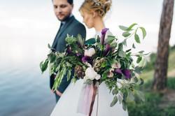 нежный красивый букет невесты Киев