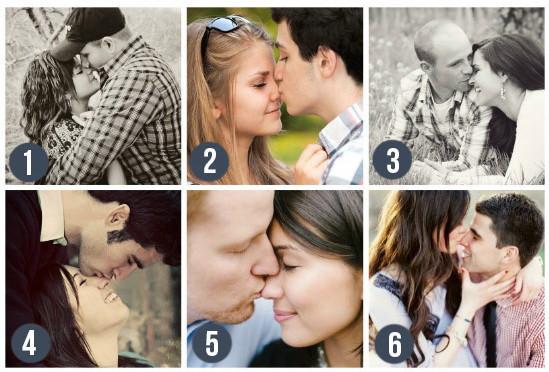 Поцелуи в нос. Очень трогательно и мило. К тому же вам не надо смотреть в объектив, можно расслабиться и быть естественными. mz-wedding.com