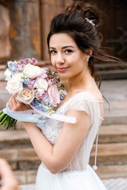 Букет невесты, садовый стиль
