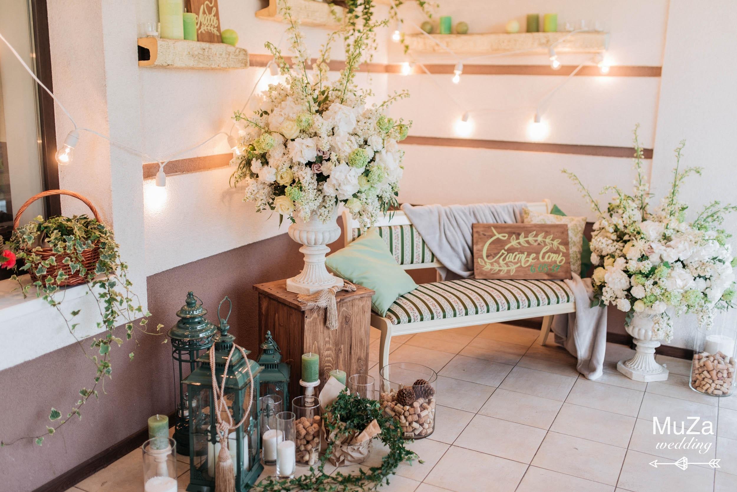 красивая фотозона на свадьбе