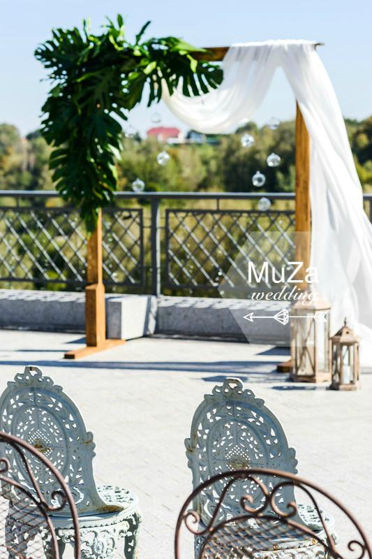 декор свадебной церемонии, wedding decor, tropical wedding, botaniical, monstera, монстера, тропическая свадьба