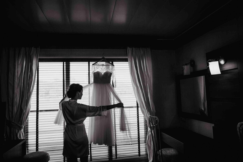 свадебное платье, утро невесты