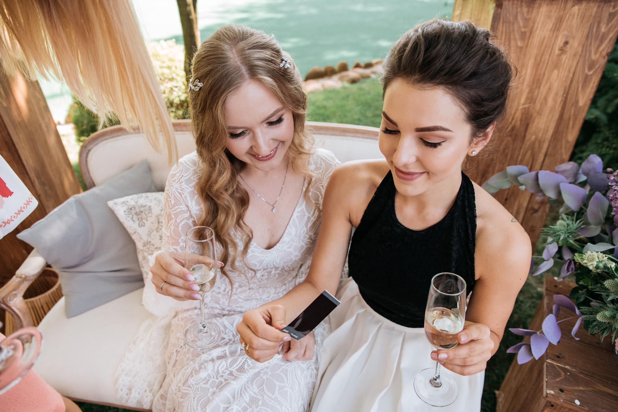 фото полароид на свадьбе