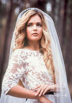 нежный светящийся образ невесты