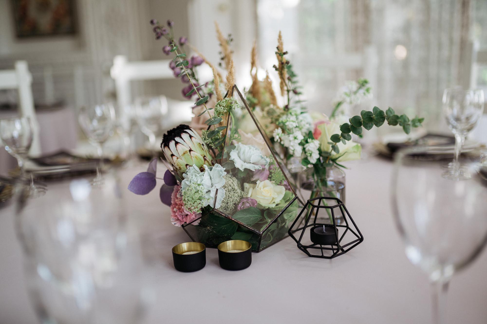свадьба в стиле бохо, декор стола