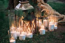 свечи и фонари вечерняя церемония
