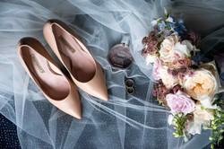 Свадебные детали букет туфли кольца
