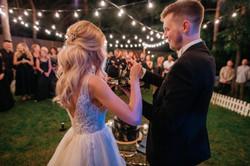 Разрезание тортика на свадьбе