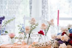 голубой фиолетовый розовый свадьба