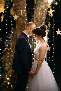 фото вечерняя свадебная церемония