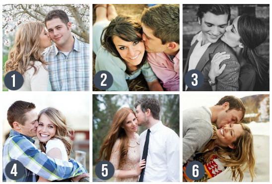 Поза для свадебной фотосессии - Поцелуй в щеку. Милыепоцелуйчикив щечку отлично выглядят на свадебных фото! Блог свадебного агентства MuZa-wedding