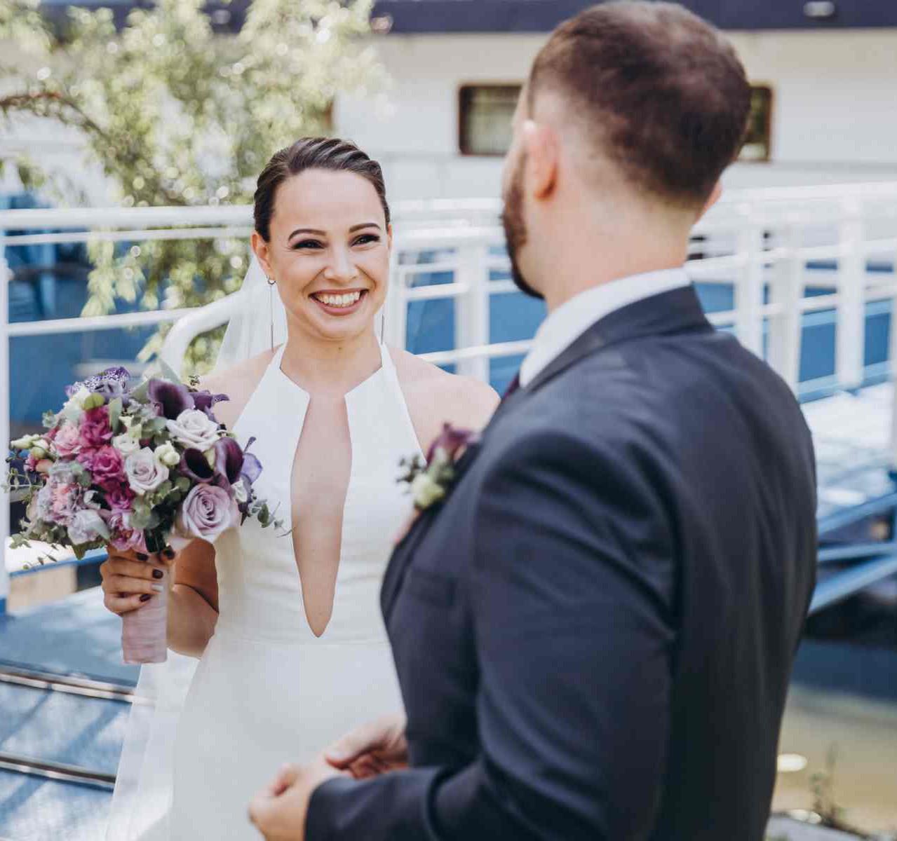 трогательная первая встреча свадьба