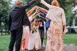 появление молодоженов на свадьбе