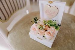 коробочка для колец живые цветы