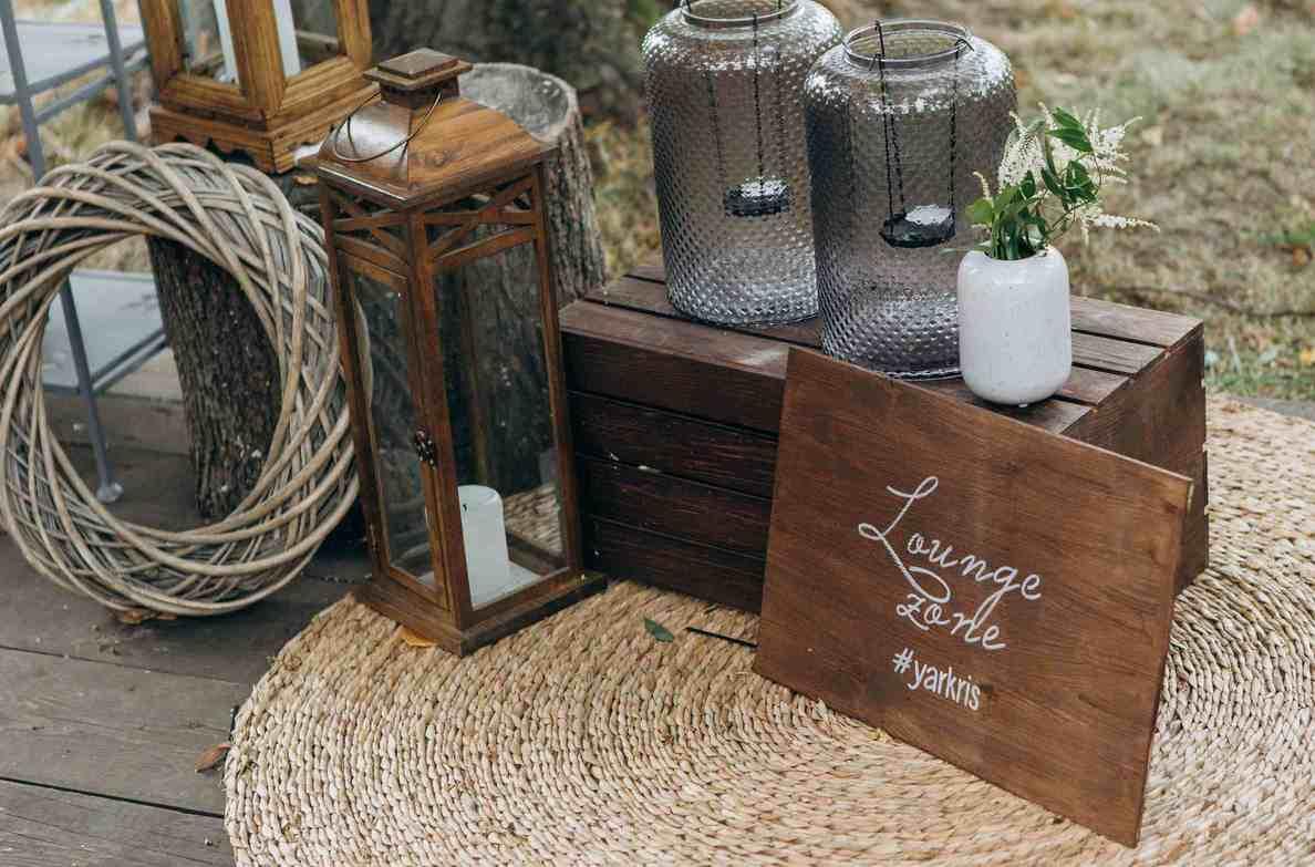 лаунж зона на свадьбе, декор