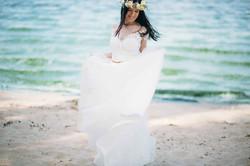 фотосессия невесты на берегу моря