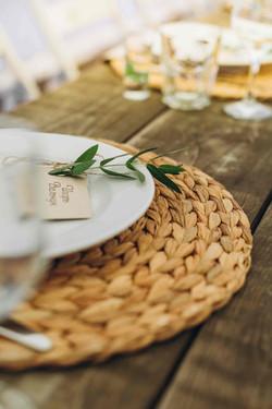 сервировка свадебного стола, эко