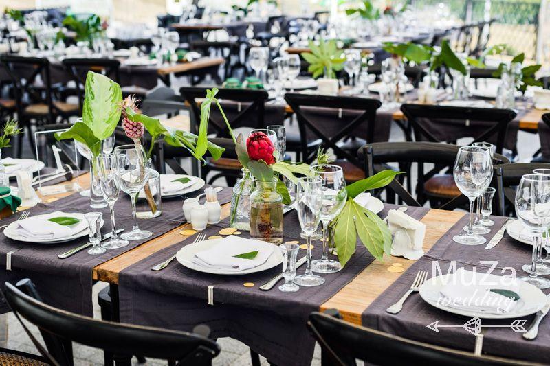 свадебный декор, тропический, ананас