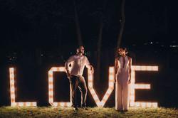 светящиеся led буквы love на свадьбу