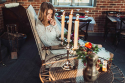 Красивая будуарная съемка невесты