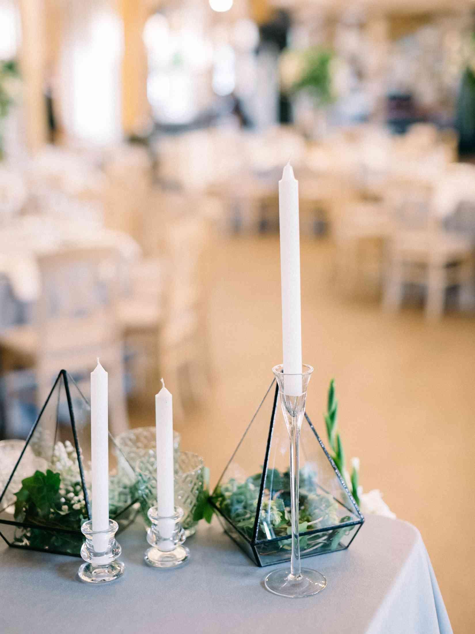флорариум в декоре стола молодоженов