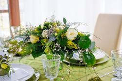 гостевая композиция зеленый желтый