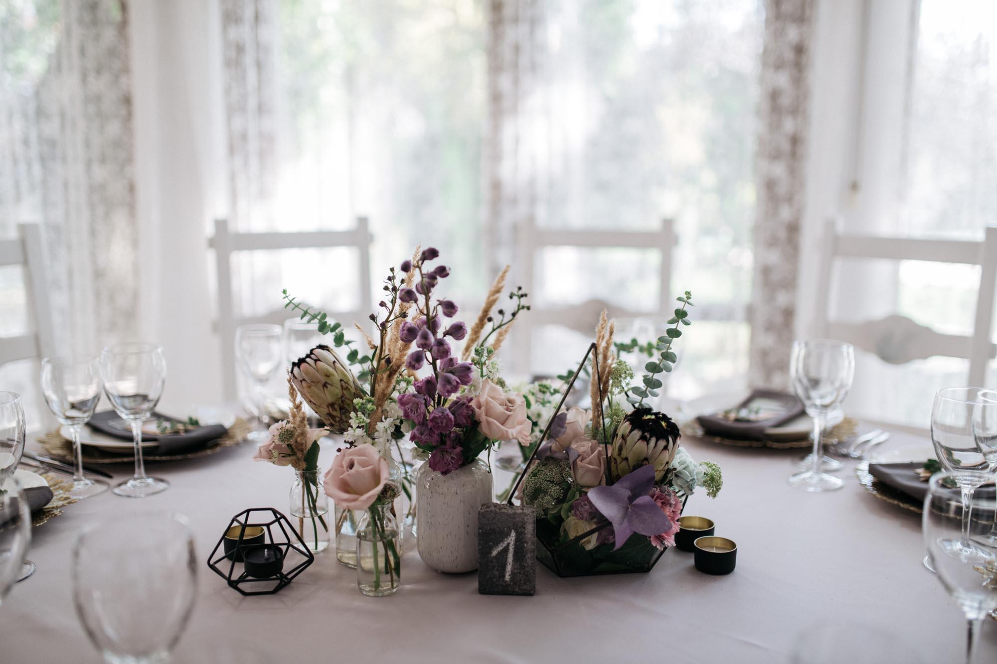 декор гостевых столов свадьба