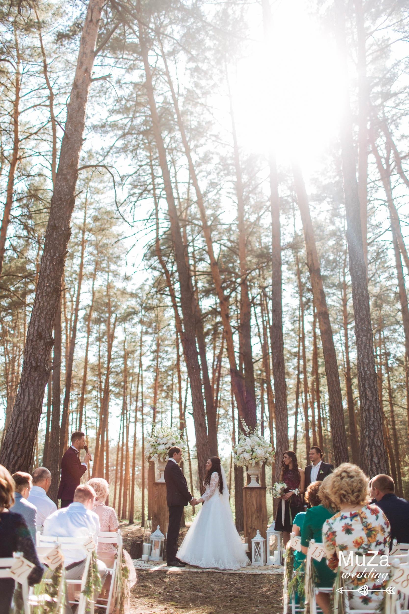 сказочная лесная свадебная церемония