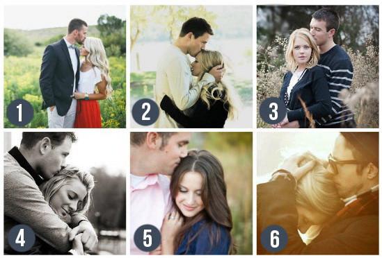 Поцелуй в макушку - замечательный вариант позы для свадебной фотосессии или love story