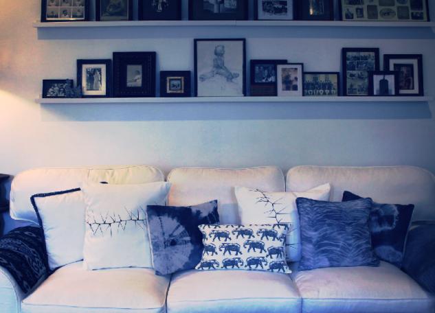 Moody Hues with an array of Japanese Shibori Cushions...