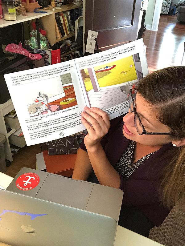 Becky  Reading Bean Book.jpg