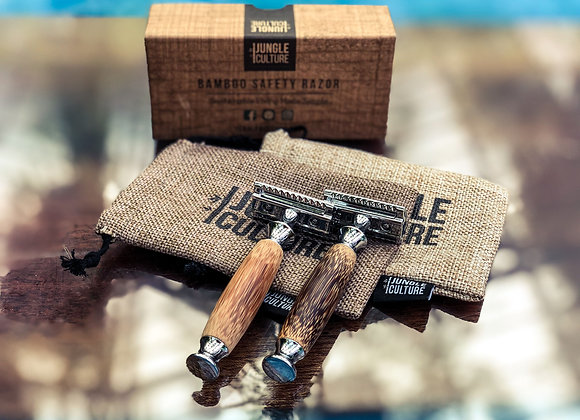 Bamboo Safety Razor with 5 Blades