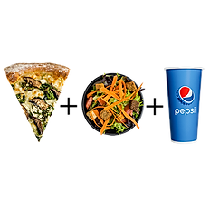 #6: One slice, small salad & fountain drink