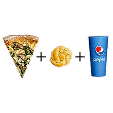 #2: One slice, one garlic knot & fountain drink