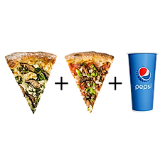 #3: Two slices & fountain drink