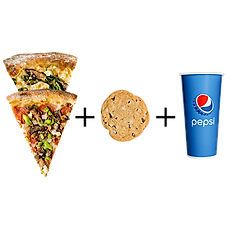 #4: Two slices, big cookie & fountain drink