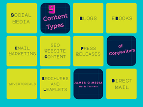 9 Types of Powerful Content in a Copywriter's Toolbox