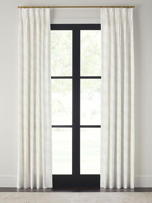 3 Finger Pleat Linen Side Panel